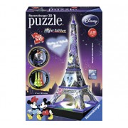 Puzzle 3D Disney Turnul Eiffel noaptea, 216 piese
