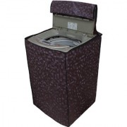 Glassiano Brown Colored Washing Machine Cover For LG T7208TDDLP Fully Automatic Top Load 6.5 Kg