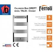 Calorifer de baie cromat drept Ferroli Talia 400/700 mm