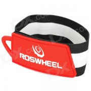 Roswheel conveniente Tie-en Pantalones / Pantalones Rubber Band (28cm) - Rojo + Blanco + Negro