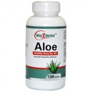 Way2herbal Aloevera Aloe capsules 400mg 120 counts- Colon cleansing Supplement and Immunity