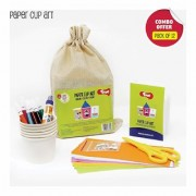 Toiing Paper Cup Art Return Gift Combo - Pack of 12 DIY Paper Cup Craft Kits for Kids Birthday Parties