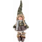 Spiridus portelan cu picioare textil verde Girl cm17x50H