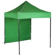Gyorsan összecsukható sátor 2x2m – acél, Zöld, 1 oldalfal