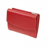 Esquire New Silk Damengeldbörse Rot Portemonnaie Leder Geldbeutel Wallet
