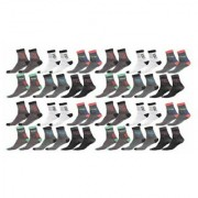 Manan fashion multi color ankle socks for unisex (pack of 24 )