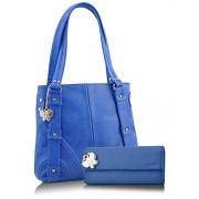 Butterflies Combo Handbag (Blue) (BNS CB023)
