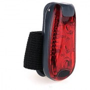 Clip On LED Safety Light 3 Lighting Modes High Visibility Running Lights for Runners Dogs Cycling Walking (Red)