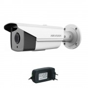 Camera supraveghere exterior IP Hikvision DS-2CD2T83G0-I8, 8 MP, IR 80 m, 2.8 mm + alimentare