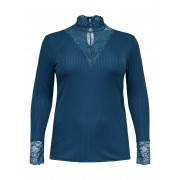 ONLY Curvy High-neck Top Dames Blauw / Female / Blauw / S-42/44