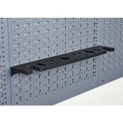Suport scule&unelte Küpper 393x70 mm pentru panou perforat, plastic negru