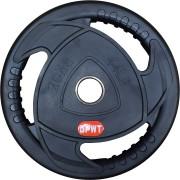 Диск за щанга гумиран Ø50 мм. 20 кг. с метален пръстен