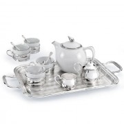 Set Ceai 4 persoane Silver Home Chinelli made in Italy