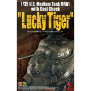 "ASUKA - U.S. Medium Tank M4A1 with Cast Cheek ""Lucky Tiger"" 1:35"