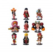 9Pcs Juguetes Set De Mini Figuras De Q Versión De One Piece, Juguetes Set Niños Juguetes De Peluche De Coches De Artículos De Menaje