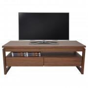 TV-Rack Baar, Fernsehtisch Lowboard mit Schubladen, 39x105x49cm ~ Variantenangebot