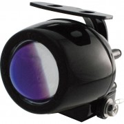 Shin Yo Motorrad-Scheinwerfer ShinYo Mini-Ellipsoid H3 Nebelscheinwerfer blaue Linse schwarz