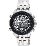 New Skmei 993 Full Black Dile Analog With Digital Stylist Looking Sport With Professional Watch For Mne