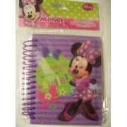 Disney Glitter Spiral Journal ~ Minnie Mouse Bow-tique (Always Wear a Smile)