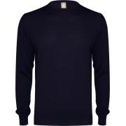 Jacques Britt heren trui wol Slim Fit - O-hals - marine blauw - Maat: S