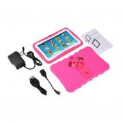 7 Pulgadas Quad Core Niños Aprendiendo Tablet PC 1GB RAM +8GB ROM Para Android 4.4 Rosa