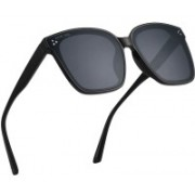 ROYAL SON Over-sized Sunglasses(Black)