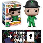 Riddler (Chase Edition): Funko POP! Heroes x Batman Vinyl Figure + 1 FREE Official DC Trading Card Bundle (13628)