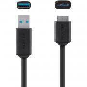 Belkin microUSB-B to USB3.0 Cable 1,8m Black F3U166bt1.8M