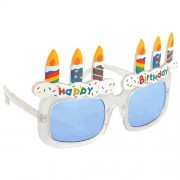 Amscan Party Ready Birthday Cake Fun Shades (1 Piece), Multicolor, One Size