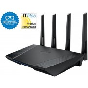 Router Wireless ASUS RT-AC87U, Access point, Media bridge, 600+1734Mbps, Dual Band, Gigabit, 4 Antene externe