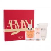 Giorgio Armani Emporio Armani In Love With You darčeková kazeta pre ženy parfumovaná voda 50 ml + parfumovaná voda 15 ml + krém na ruky 50 ml