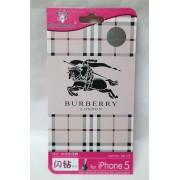 Folie protectie cu design Iphone 5 Burberry ( fata + spate )