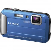 Digitalna kamera Panasonic DMC-FT30EG-A 16.1 mil. piksela optički zum: 4 x plave boje, podvodna kamera, otporna na smrzavanje, o