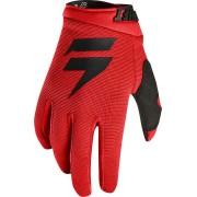 Shift WHIT3 Air Guantes de Motocross Kids Negro Rojo M
