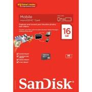 SanDisk microSDHC 16GB Class 4 Speed 4MB/s Card Only SDSDQM-016G-B35 memorijska kartica SDSDQM-016G-B35