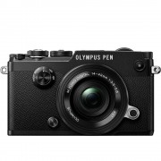 Olympus PEN-F Aparat Foto Mirrorless 20MP MFT Full HD Kit cu Obiectiv Pancake 14-42mm Negru