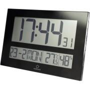 Ceas de perete DCF cu termohigrometru, negru, Renkforce C8461