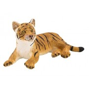 Mojo Fun 387009 Tiger Cub Lying Realistic International Wildlife Toy Replica