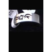 Стоманен гравиран пръстен с татуировка модел 4- размер 18