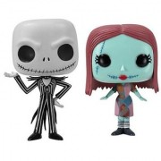 Funko Disney NIGHTMARE BEFORE CHRISTMAS Jack Skellington & Sally 3.75 POP VINYL FIGURE SET