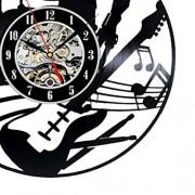 ELECTROPRIME® Decorative Classic Black Art Clock Vinyl Record Wall Clock for Office DIY