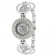 RIDIQA Display Analog White Dial Stainless Steel Watch For Woman-rd-043