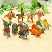Realistic Looking Dinosaurs, Moonvvin 12PCS Jumbo Plastic Assorted Dinosaur Figures, Walking Dinosaur for Kids Toy Christmas gift