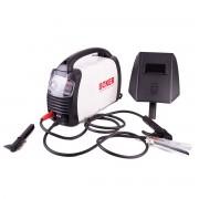 Set aparat de sudura 300A - invertor MMA cu afisaj LCD, masca protectie, ventilator racire si perie sarma