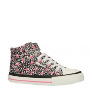 British Knights Dee hoge sneakers luipaard/flamingo wit/roze