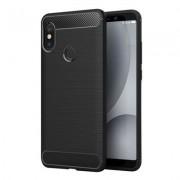Capa Carbon Lux preta para Xiaomi Redmi Note 5 Pro