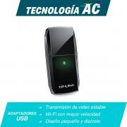 Tarjeta de Red inalámbrica USB TP-LINK Archer T2U Dual Band AC600