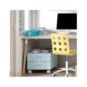 Habitatdesign Cajonera de colores con ruedas para mesas de estudio de trabajo mju2023006