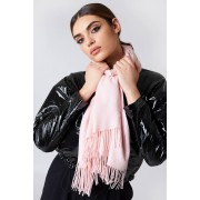NA-KD Accessories Woven Scarf - Scarves - Pink