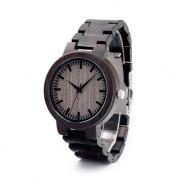 BOBO BIRD Męski, ciemnobrązowy zegarek drewniany BOBO BIRD na bransolecie